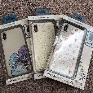 Three Crystal Phone Cases (Lot of 3) iPhone X/XS